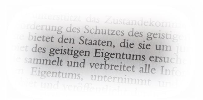 """Der Begriff """"Geistiges Eigentum"""" fast die Schutzrechte von Urheberrecht und gewerblichen Rechtsschutz zusammen."""