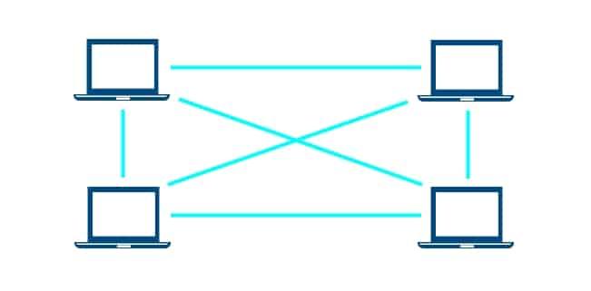 Mit Peer-to-Peer bauen Computer ein Netzwerk auf.